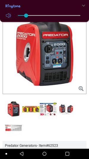 2000 watt super quiet genereator for Sale in Austin, TX