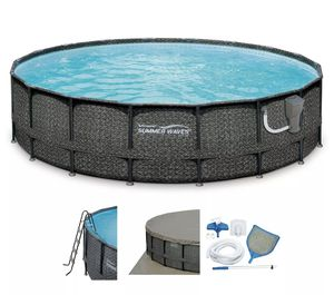 Summer Waves 20x48 Elite Wicker Frame Pool for Sale in Ellicott City, MD