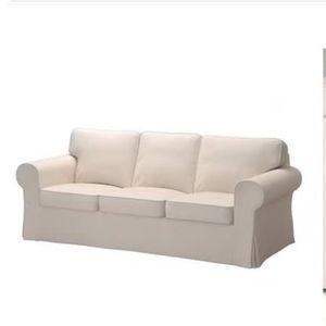 White 3 Seat Sofa (Hardly Used) for Sale in Arlington, VA