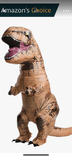 Brown inflatable dinosaur costume for Sale in Highland, CA