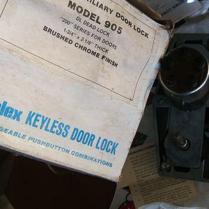SIMPLEX KEYLESS DOOR LOCK NEW DEADBOLT AUXILIARY for Sale in Manhattan Beach, CA