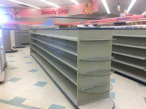 Island slat wall shelving, adjustable shelves for Sale in Dexter, ME