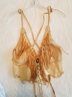 Top Leather fringe Size M for Sale in Benicia, CA