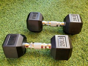 Price is firm! BRAND NEW. 20lb dumbbells. 20lb weights. 20 lb for Sale in Los Angeles, CA