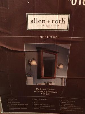 Bathroom medicine cabinet oak for Sale in Langhorne, PA