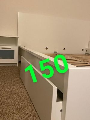 Bed frame with two storage , and two nightstand for Sale in DeKalb, IL