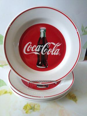 "Coca-Cola Plates ( set of 4 ) 9"" Diameter for Sale in Wilmington, CA"