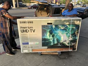 Samsung 75 inch 4K TV 120 Hz un75ru8000 Smart with warranty for Sale in Norwalk, CA