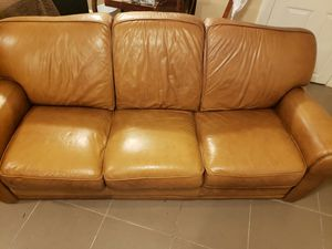 Genuine Leather couch from The Door Store for Sale in Brooklyn, NY