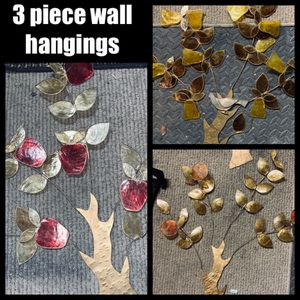 3 piece wall hanging decoration Apples oranges pears vintage furnishings kitchen living room home decor all 3 for $5 for Sale in Galt, CA
