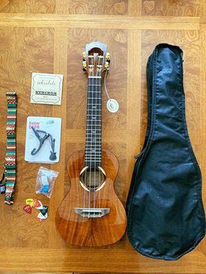 Solid Koa Top Concert Ukulele + Accessories for Sale in Alameda, CA