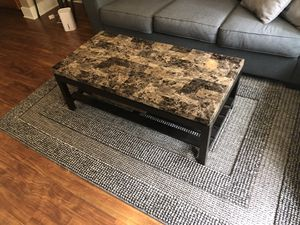Faux marble coffee table for Sale in Raleigh, NC