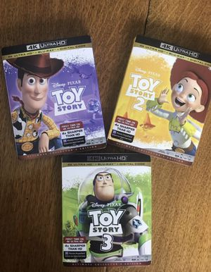 4k Toy story 4k Blu-ray 1,2 and 3 Blu-ray, all for $40, Disney marvel Harry Potter the Star Wars movies Bluray and dvd collectibles for Sale in Everett, WA