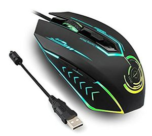 NEW! Gaming Mouse Up to 4800 DPI, Wired Ergonomic Game Computer Mice with 5 Buttons 7 Changeable for Sale in Stuart, FL