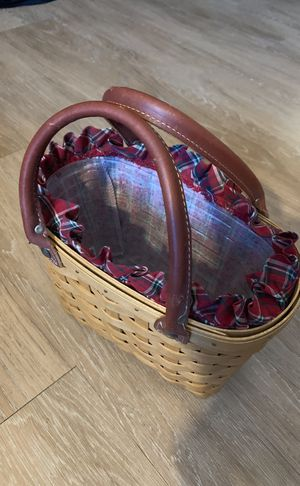 LONGABERGER Basket 2003 Small Tote Purse w/ Leather Handles for Sale in Germantown, MD