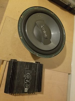 "infinity 12"" subwoofer and jbl amp for Sale in Murfreesboro, TN"