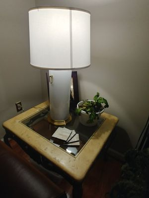 2 twin Crate and barrel Tall end lamps for Sale in Alexandria, VA