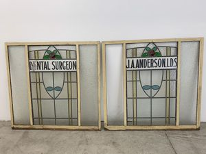 Antique stained glass windows, 1900-1920's. for Sale in Escondido, CA