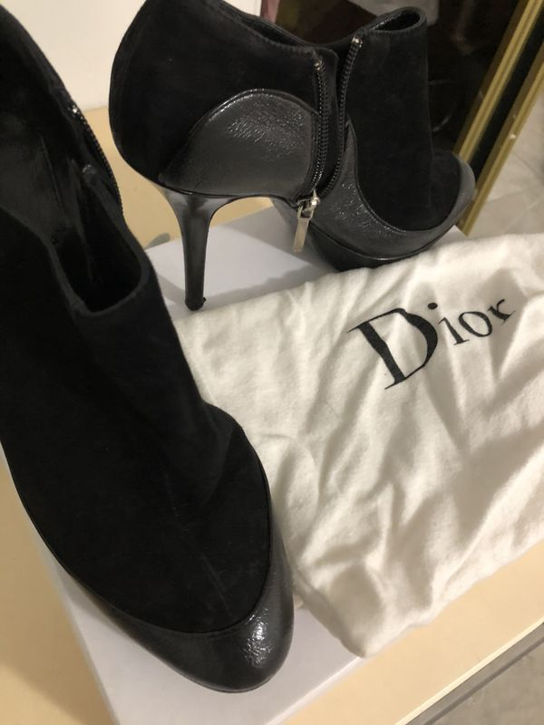 Used authentic Christian Dior booties real leather and suede