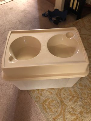 Dog bowl container elevated dog feeder for Sale in Long Beach, CA
