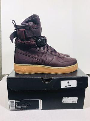 Men's Nike SF Air Force 1 Deep Burgundy/Deep Burgundy Size 9 for Sale in Pawtucket, RI