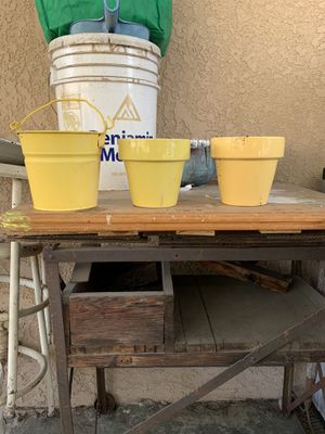 Yellow plant pots for Sale in Ontario, CA