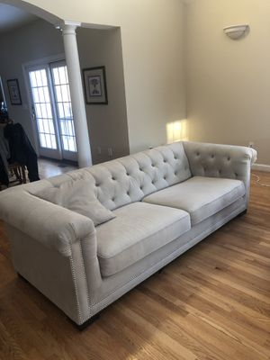 2 matching microfiber beige sofa for Sale in Sudbury, MA