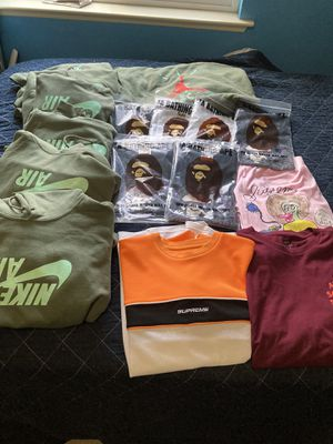 Bape tees and Travis hoodies for Sale in Madera, CA