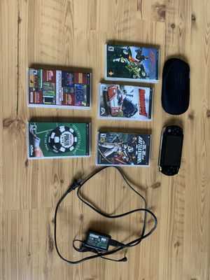 SONY PSP video game system with games! for Sale in Mooresville, NC