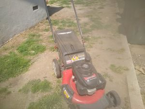 "Troy-bilt 21"" lawnmower with mulcher, rear bag and side discharge for Sale in Chino, CA"