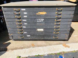Antique map wooden cabinet for Sale in Reynoldsburg, OH