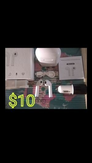 WHITE SURROUND SOUND STEREO Wireless Headphones Package Lot Similar to Airpods for Any Smartphone with Bluetooth Samsung Apple iPhone ZTE Moto Android for Sale in Hacienda Heights, CA