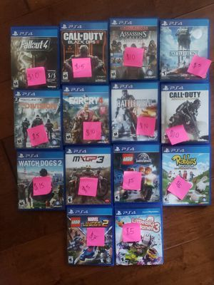 PS4 Video games (sold separately or bundle) for Sale in Santa Ana, CA