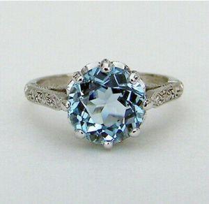 Blue Topaz Rhinestone Ring for Sale in Odessa, TX