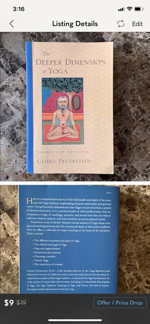 Deeper dimensions of yoga book for Sale in Guilford, CT