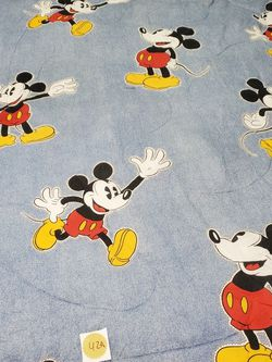 Vintage Disney Twin Size Reversible Comforter Mickey Mouse Blue Red for Sale in Brooklyn,  NY