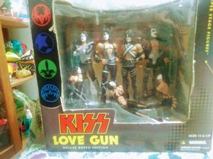KISS 💋 McFarlane Toys Love Gun Box set of Figures for Sale in San Antonio, TX