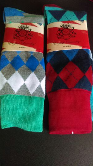 Brand new four pairs English Laundry colorful crew socks for Sale in Vancouver, WA