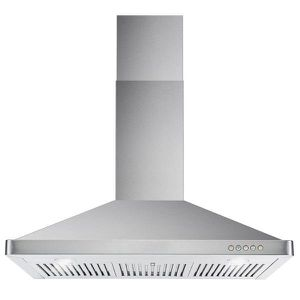 New In The Box Cosmo 63190 Wall Mount Range Hood with Ductless Convertible Duct, Kitchen Chimney-Style Over Stove Vent, 3 Speed Exhaust Fan, Permanent for Sale in Bakersfield, CA
