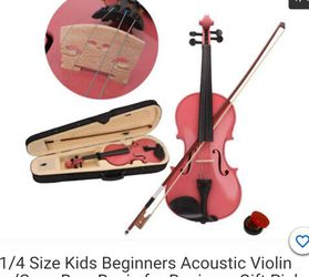1/4 Size Kids Beginner Accustic Violin Pink for Sale in Anaheim,  CA