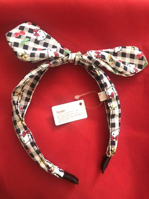 Hello Kitty (Sanrio) Kid's Checkered Head Band for Sale in Rialto, CA