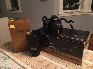 Nikon D5100 with 18-55 VR and 18-200VR lense for Sale in Bothell, WA
