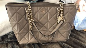 Beige Coach Purse for Sale in Syracuse, UT