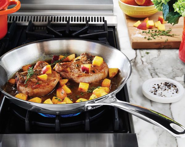 """New Le Creuset 10"""" Stainless Steel Fry Pan"""