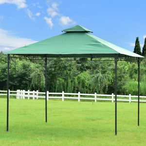 Free delivry- Outdoor Patio Table Metal Gazebo Metal Vented Garden Canopy Backyard BBQ Umbrella Sun Shed Shade Ez Up Tent for Sale in Irvine, CA