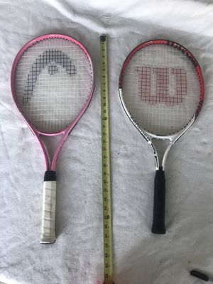 Tennis rackets Head Radical and Wilson Federer 25 pro rackets $35 for both for Sale in Los Angeles, CA