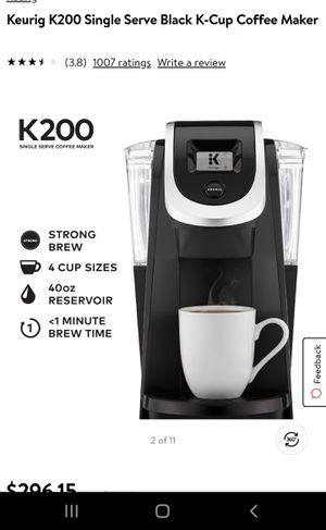 Keurig K200 Single Serve Black K-Cup Coffee Maker for Sale in E RNCHO DMNGZ, CA