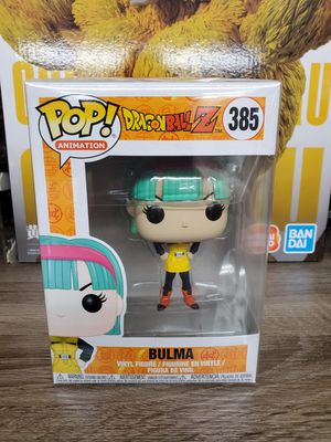 Japanese anime dragon ball z pop figure toy bulma number 385 for Sale in Rosemead, CA