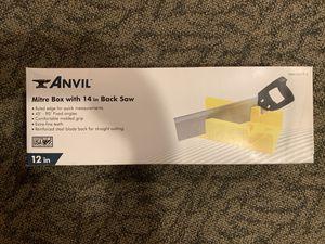 Mitre box and handsaw for Sale in Arlington, VA