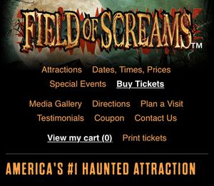 Field of Screams VIP pass for Sale in Marietta, PA